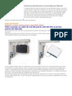 Poner Equipo ADSL en Modo Bridge