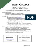 Donnelly College BizFest Scholarship Criteria 2015