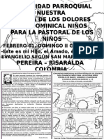HOJITA EVANGELIO DOMINGO II CUARESMA B BN
