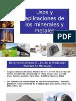 Usos y Aplicaciones de Metales(Actualizado Sept. 2010 )