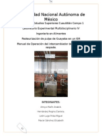 Manual de Operación Del Intercambiador de Superficie Raspada