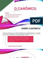 DISEÑO CANÓNICO