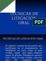 Técnicas de Litigación Oral en El Proceso Penal