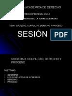 SESION 1 - Sociedad, Conflicto, Derecho y Proceso