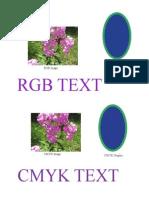 Text Graph Image Cmyk Rgb