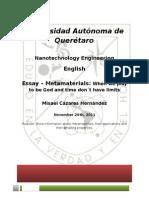 Metamaterials Essay