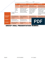 group oral presentation