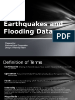 Earthquake and Flooding Data-series March2011