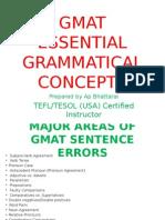 GMAT Essential Grammar