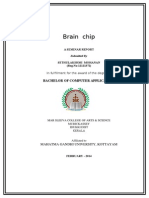 Seminar Report BRAIN CHIP