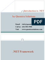 Introduction to .NET  by QuontraSolutions