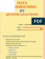 Dataware House Introduction by QuontraSolutions