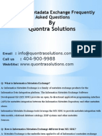 Informatica Metadata Exchange Frequently Asked Questions by QuontraSolutions