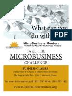 MicroBusiness Mentors flyer