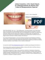 West Hollywood Dentista Cosmetico, el Dr. Poneh Ghasri, Ahora esta Haciendo el Blanqueamiento de Dientes Mas Asequible, con una Caida de Blanqueamiento Especial