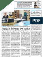 Ateneo in Tribunale (per studio) / Commercialisti a convegno su politica, economia e finanza - Il Resto del Carlino del 26 febbraio 2015