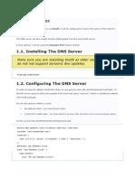 Setting Gateway Lokal DNS dan Internet DNS