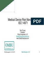 Medical Device Risk Management - IsO 14971
