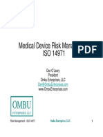 Medical Device Risk Management - IsO 14971