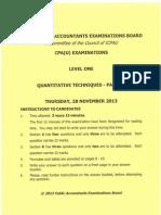 Cpa 5 Quantitative Techniques