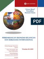 Perkembangan Ekonomi Keuangan Dan Kerjasama Internasional Triwulan III 2009