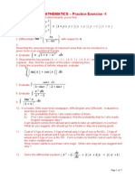 Maths Practice Ex 1