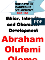 CLD106 Ethics, Integrity and Character Development