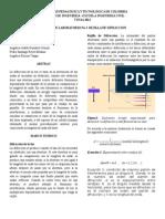 Informe de laboratorio Rejilla de Difraccion