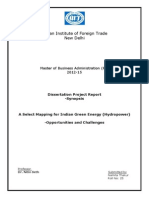 A Select Mapping for Indian Green Energy-Synopsis