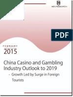Macau Casino Gambling Market Size, 2019