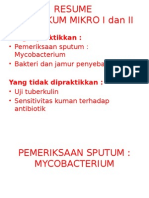Resume Praktikum MikroBIOLOGI KEDOKTERAN