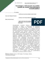 Tecnologia e Informação Em Saúde_ Modelo de Ensino-Aprendizagem Transdisciplinar _ Galvão _ Perspectivas Em Ciência Da Informação