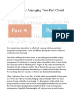 Arranging Two-Part Chord Progressions
