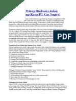 Pelanggaran Prinsip Disclosure Dalam Insider Trading