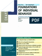 foundation for individual behaviour