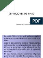 DISTINTAS DEFINICIONES DE YIHAD