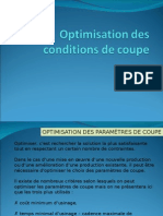 Optimisation Des Conditions de Coupe