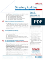 Active Directory Auditing Quick Reference Guide