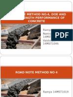 Road Note Method No 4