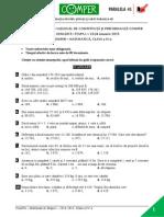 Matematica EtapaI 14-15 ClasaIV Subiect