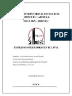 Compañias Petroleras Operadoras en Bolivia
