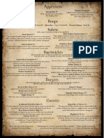 emmets menu (text)