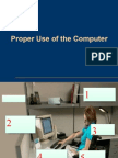 proper use of computer