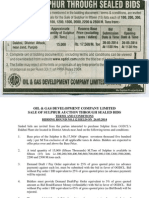OGDCL Sulphur Auction May 14