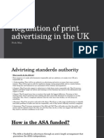 Regulation of Print Advertising in the UK