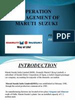 product layout of maruti