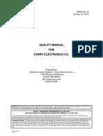 Korry 46902 Qual Manual