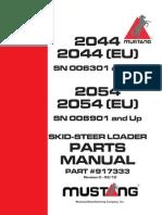 Manual de Servicio Mustang 2066, 2076, 2086 | Motor Oil