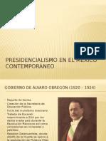 Presidencialismo en El México Contemporáneo (1)