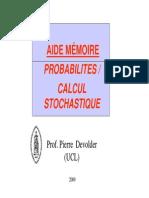 Probabilites Et Calcul Stochastique